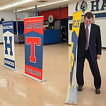 Houston ISD superintendent Dr. Terry Grier reveals the new mascot names for Lamar High School, Westbury High School, Welch Middle School and Hamilton Middle Schhool at Hamilton, April 15, 2014.
