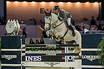 Philipp Weishaupt of Germany riding Solitaer during the Hong Kong Jockey Club Trophy competition, part of the Longines Masters of Hong Kong on 10 February 2017 at the Asia World Expo in Hong Kong, China. Photo by Marcio Rodrigo Machado / Power Sport Images