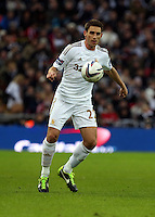 Pictured: Angel Rangel. Sunday 24 February 2013<br /> Re: Capital One Cup football final, Swansea v Bradford at the Wembley Stadium in London.