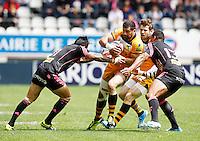 Photo: Richard Lane/Richard Lane Photography. Stade Francais v London Wasps. European Rugby Champions Cup Play-Off. 24/05/2014. Wasps' Andrea Masi attacks.