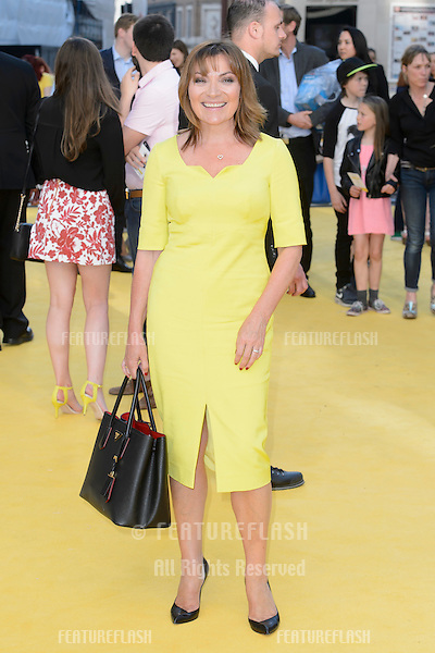 """Lorraine Kelly at the world premiere of """"Minions"""" at the Odeon, Leicester Square, London.<br /> June 11, 2015  London, UK<br /> Picture: Dave Norton / Featureflash"""