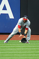 Washington Nationals outfielder Michael Morse #38 during a game against the New York Mets at Citi Field on September 15, 2011 in Queens, NY.  Nationals defeated Mets11-1.  Tomasso DeRosa/Four Seam Images