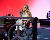 FLUSHING NY- AUGUST 26: Ali Stroker performs during opening night ceremonies on Arthur Ashe Stadium at the USTA Billie Jean King National Tennis Center on August 26, 2019 in Flushing Queens.  Credit: MPI04 / MediaPunch