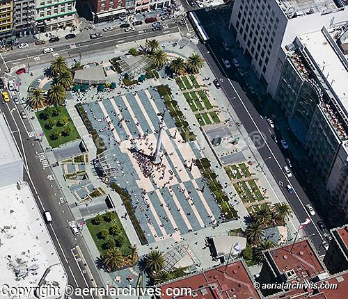 aerial photograph Union Square San Francisco California