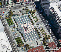 aerial photograph Union Square San Francisco California