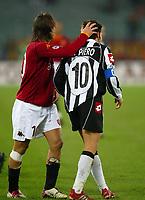 Roma 1 Dicembre 2002<br /> Roma - Juventus 2-2<br /> Alessandro Del Piero e Francesco Totti