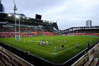 6th February 2021; Brentford Community Stadium, London, England; Gallagher Premiership Rugby, London Irish versus Gloucester; Long range view of action of the 1st half