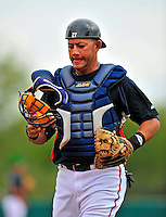 17 March 2009: Atlanta Braves' catcher J.C. Boscan in action during a Spring Training game against the New York Mets at Disney's Wide World of Sports in Orlando, Florida. The Braves defeated the Mets 5-1 in the Saint Patrick's Day Grapefruit League matchup. Mandatory Photo Credit: Ed Wolfstein Photo