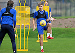 St Johnstone Training....   Reece Devine pictured with Murray Davidson during training at McDiarmid Park ahead of Saturday's game against Rangers.<br />Picture by Graeme Hart.<br />Copyright Perthshire Picture Agency<br />Tel: 01738 623350  Mobile: 07990 594431