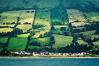 Glenariff Village accross Red Bay. Northern Ireland
