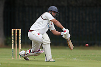 Hasnain in batting action for Barking during Barking CC (batting) vs Hornchurch Athletic CC, Hamro Foundation Essex League Cricket at Mayesbrook Park on 31st July 2021