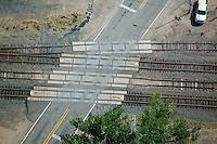 aerial photograph railroad crossing Nebraska