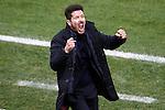 Atletico de Madrid's coach Diego Pablo Cholo Simeone celebrates goal during Spanish Kings Cup semifinal 1st leg match. February 01,2017. (ALTERPHOTOS/Acero)