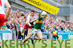 Killian Spillane, Kerry in action against Rory Brennan, Tyrone during the All Ireland Senior Football Semi Final between Kerry and Tyrone at Croke Park, Dublin on Sunday.