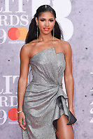 Vick Hope<br /> arriving for the BRIT Awards 2019 at the O2 Arena, London<br /> <br /> ©Ash Knotek  D3482  20/02/2019<br /> <br /> *images for editorial use only*