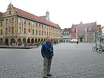 John in town square, Memmingen, Germany, Europe 2014