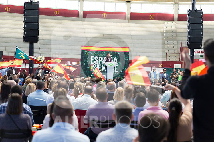 Vox`s leader Santiago Abascal during a meeting with party supporters. October 13,2019. (ALTERPHOTOS/IVAN TOME)