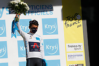 4th September 2020; Millau to Lavaur, France. Tour de France cycling tour, stage 7;  Team IneGrenadier Bernal Gomez, Arley Lavaur  on the podium