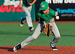 August 10, 2014:Hanford(CA)'s Gavin Gamble (2) boots a ground ball but recovers for the put out against Meridian(ID) during the Cal Ripken 12u 70-foot World Series at the Ripken Experience powered by Under Armour in Aberdeen, Maryland on August 10, 2014. Hanford defeated Meridian 5-1. Scott Serio/Ripken Baseball/CSM