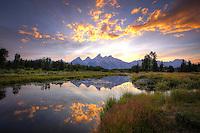 Teton Summer Sunset - Wyoming