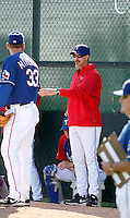 Mike Maddux  - Texas Rangers - 2009 spring training.Photo by:  Bill Mitchell/Four Seam Images