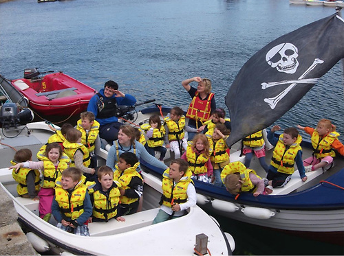 Local school children out on the safe waters of Dun Laoghaire Harbour with the Irish National Sailing School Photo: courtesy INSS