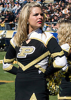 October 03, 2008: Purdue cheerleader. The Penn State Nittany Lions defeated the Purdue Boilermakers 20-06 on October 03, 2008 at Ross-Ade Stadium, West Lafayette, Indiana.