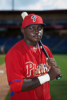 Philadelphia Phillies Cornelius Randolph (2) poses for a photo after an instructional league game against the New York Yankees on September 29, 2015 at Brighthouse Field in Clearwater, Florida.  (Mike Janes/Four Seam Images)