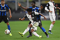 Juan Cuadrado of Juventus , Kwadwo Asamoah of FC Internazionale <br /> Milano 6-10-2019 Stadio Giuseppe Meazza <br /> Football Serie A 2019/2020 <br /> FC Internazionale - Juventus FC <br /> Photo Andrea Staccioli / Insidefoto