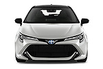 Car photography straight front view of a 2019 Toyota Corolla-TS-hybrid Style 5 Door Wagon Front View