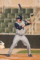 Adam White (8) of the Lake County Captains at bat at Fieldcrest Cannon Stadium in Kannapolis, NC, Wednesday July 2, 2008. (Photo by Brian Westerholt / Four Seam Images)