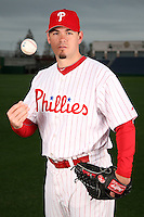 February 24, 2010:  Pitcher Chad Durbin (37) of the Philadelphia Phillies poses during photo day at Bright House Field in Clearwater, FL.  Photo By Mike Janes/Four Seam Images