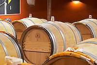 glass bungs on barrels clos des quatre vents margaux medoc bordeaux france
