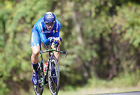 Surprisingly ending up the runner-up of the day, Adriano Malori (ITA/Movistar) put in a stellar performance<br /> <br /> Elite Men TT<br /> UCI Road World Championships / Richmond 2015