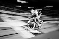 Fabian Cancellara (SUI/Trek-Segafredo) speeding<br /> <br /> Ciao Fabian<br /> <br /> Farewell event in 't Kuipke in Gent/Belgium for Fabian Cancellara after retiring for pro racing (november 2016)
