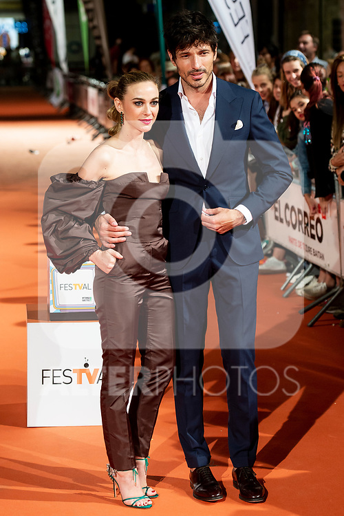 Actress Marta Hazas and Andres Velencoso attends to orange carpet of 'Velvet' during FestVal in Vitoria, Spain. September 04, 2018.(ALTERPHOTOS/Borja B.Hojas)