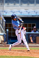 FCL Rays outfielder Shane Sasaki (37) bats during a game against the FCL Twins on July 20, 2021 at Charlotte Sports Park in Port Charlotte, Florida.  (Mike Janes/Four Seam Images)