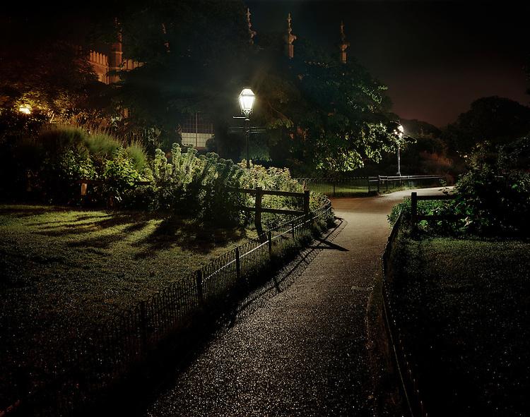 Sleeping Rough - Living on the streets of Britain. Brighton UK..Pavilion Gardens.