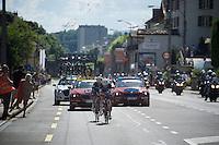 urban landscapes for a change for 'escapees' Tony Martin (DEU/Etixx-Quickstep) & Julian Alaphilippe (FRA/Etixx-QuickStep)<br /> <br /> st16: Morain-en-Montagne to Bern (SUI) / 209km<br /> 103rd Tour de France 2016