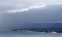 A storm rolls in on Yellowstone Lake.