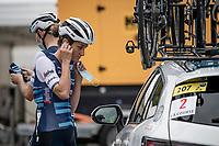 Lizzie Deignan (GBR/Trek-Segafredo) pre-race<br /> <br /> 7th La Course by Tour de France 2020 <br /> 1 day race from Nice to Nice (96km)<br /> <br /> ©kramon