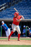 Philadelphia Phillies Cesar Rodriguez (12) at bat during an Instructional League game against the Toronto Blue Jays on September 17, 2019 at Spectrum Field in Clearwater, Florida.  (Mike Janes/Four Seam Images)