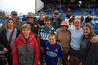 Highlanders' Harry Hansen and family after the 2021 Bunnings Super Rugby Aotearoa Under-20 rugby match between the Hurricanes and Highlanders at Owen Delaney Park in Taupo, New Zealand on Tuesday, 14 April 2021. Photo: Dave Lintott / lintottphoto.co.nz