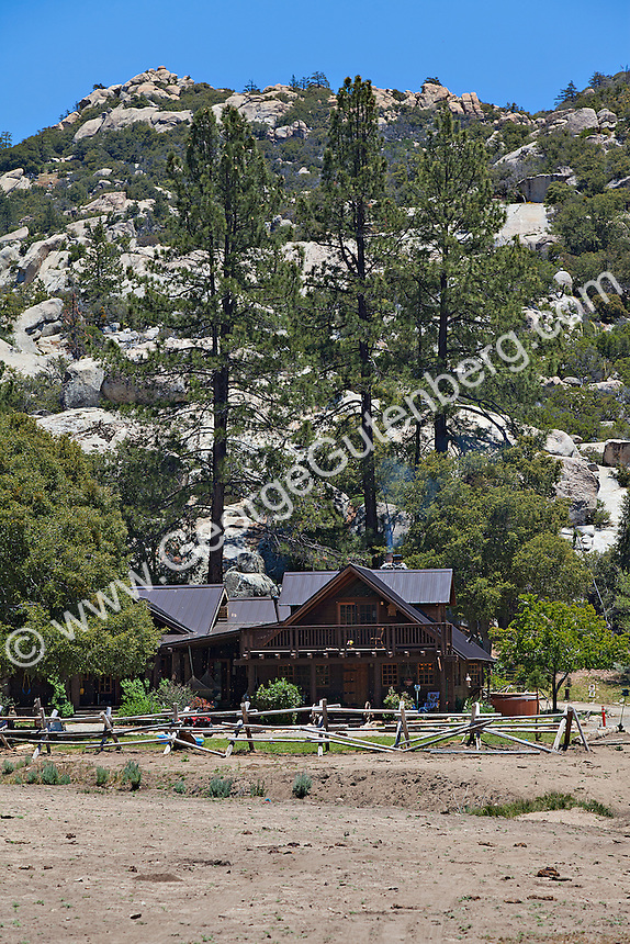 Stock photo of rustic style ranch house