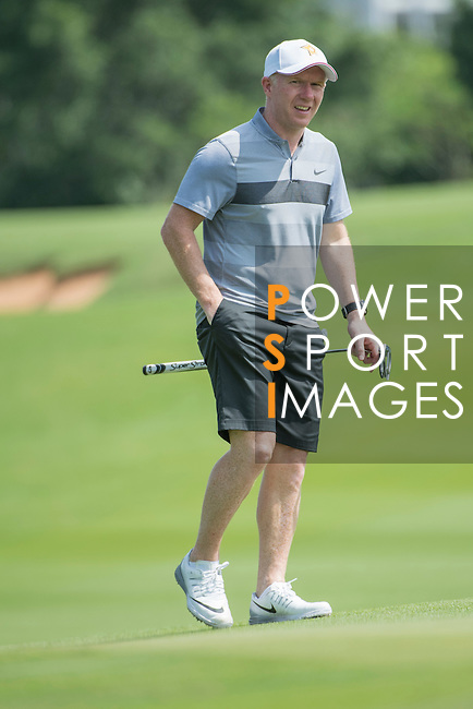 Paul Scholes during the World Celebrity Pro-Am 2016 Mission Hills China Golf Tournament on 22 October 2016, in Haikou, China. Photo by Weixiang Lim / Power Sport Images