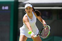 3rd July 2021; Wimbledon, SW London. England; Wimbledon Tennis Championships, day 6;  Emma Raducanu GBR