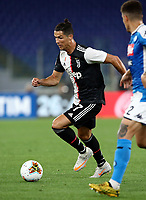 Juventus' Cristiano Ronaldo in action during the Italian Cup football final match between Napoli and Juventus at Rome's Olympic stadium, June 17, 2020. Napoli won 4-2 at the end of a penalty shootout following a scoreless draw.<br /> UPDATE IMAGES PRESS/Isabella Bonotto