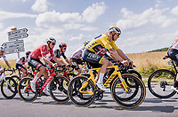 yellow jersey Mathieu van der Poel (NED/Alpecin Fenix) in the bunch<br /> <br /> Stage 4 from Tours to Chateauroux (160.6km)<br /> 108th Tour de France 2021 (2.UWT)<br /> <br /> ©kramon