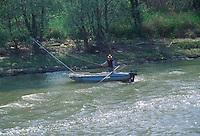 - fisherman on Po river ....- pescatore su fiume Po