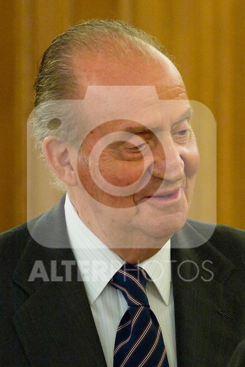 04.07.2012. King Juan Carlos I of Spain attends a Board of Entrepreneurs Circle, chaired by Ms Monica de Oriol in the Zarzuela Palace. In the image Juan Carlos I de Borbon (Alterphotos/Marta Gonzalez)